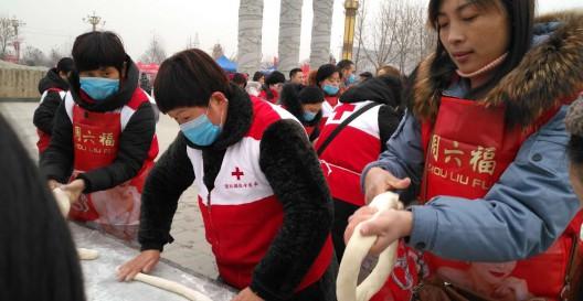 团聚在冬至•情暖环卫工——通许县举办为环卫工送饺子大型公益活动
